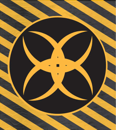 Nuclear radiation symbol on warning background Zdjęcie Seryjne - 109770948