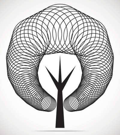 Vector tree emblem Stockfoto - 123324502