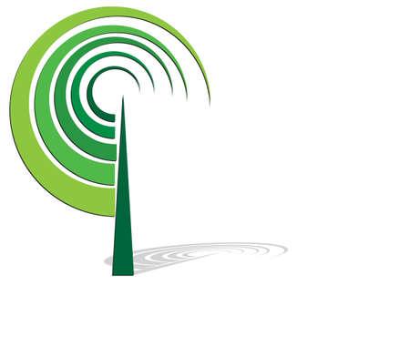 Vector tree emblem Zdjęcie Seryjne - 123324506