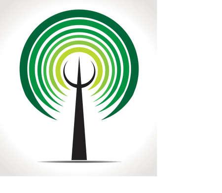 Vector tree emblem Illustration