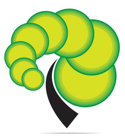 Vector tree emblem Ilustracja
