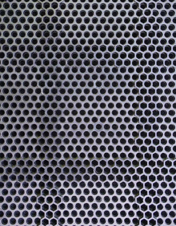 Photo of metal speaker mesh texture
