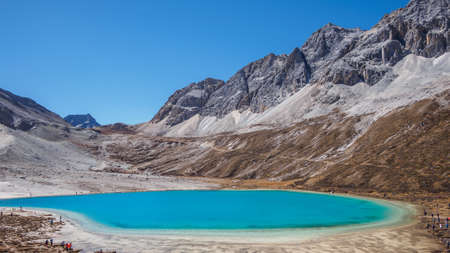 Beautiful  landscape of milky sea in Daocheng Yading National Park, Sichuan, China.