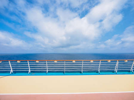 deck of luxury cruise ship