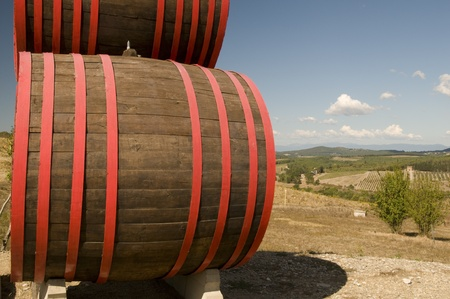 A barrels of wine in tuscany, Italy photo