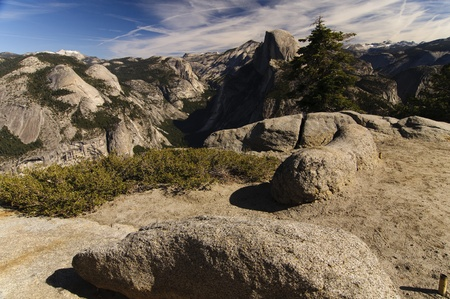 A beautiful view of Half Dome in Yosemite National Park Stock Photo - 13269482