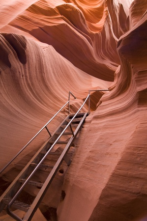upper floor: Lower Antelope Canyon in Arizona Stock Photo