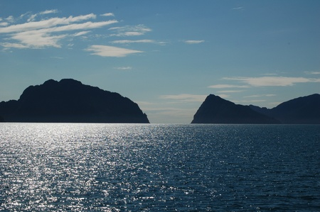 Beautifull view of Resurrection Bay close to Seward, Alaska photo