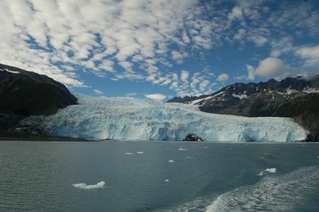 Glacier hautnah im Kenai Fjords National Park Alaska Standard-Bild