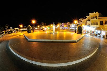 rethymno: Rethymno by night, greece