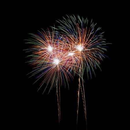 fire works: fireworks Stock Photo