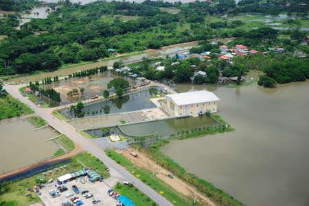 thailand flood: Thailand floods, Natural Disaster,  Helicopter surveys flood