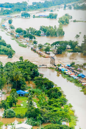 flood area: Thailand floods, Natural Disaster