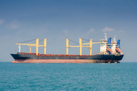 commerce and industry:  Cargo ship at sea in Thailand