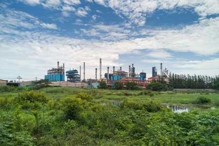 Industrial plant manufacture glutamate in the province of Singburi, Thailand