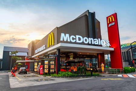 Ayutthaya,Thailand - March 7, 2018 :View in Porto Go Bangpa-in, McDonald's Restaurant in Ayutthaya,Thailand. McDonald's is an American hamburger and fast food restaurant chain Publikacyjne