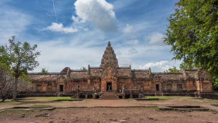 Phanom Rung Historical Park is old castle rock about more than thousand years ago, Buriram Thailand