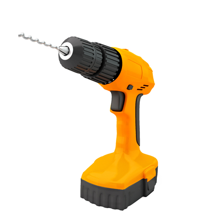 drill impact drill and screw driver 3d render no shadow