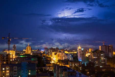 thunderhead: Thunderhead over the city