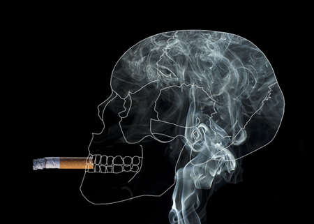 obsessed: Skull full of smoke obsessed by to smoke
