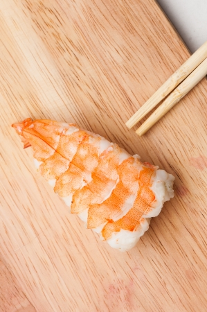 Closeup japanese food sushi photo