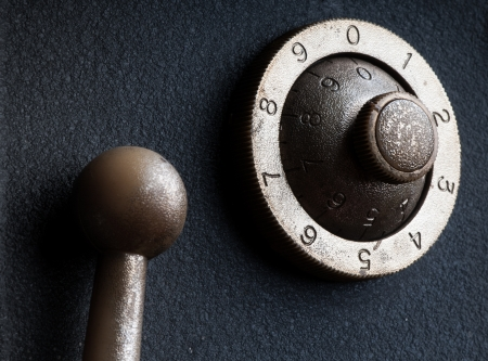 old safe lock photo