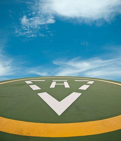heliport: helipad Stock Photo
