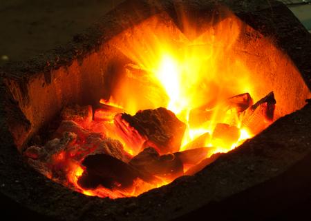 smolder: closeup stove