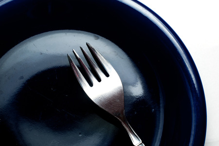 fork on plate photo