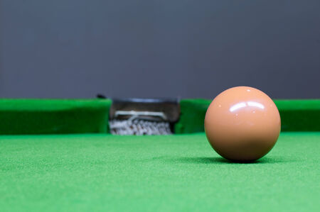 brawn ball in Snooker games photo