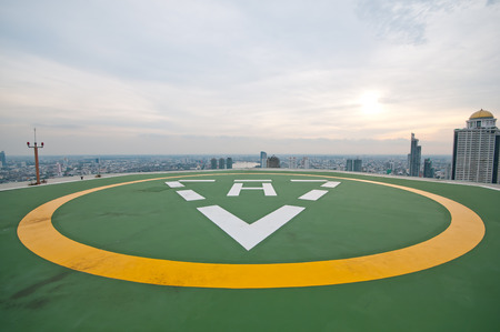 heliport: helicopter parking