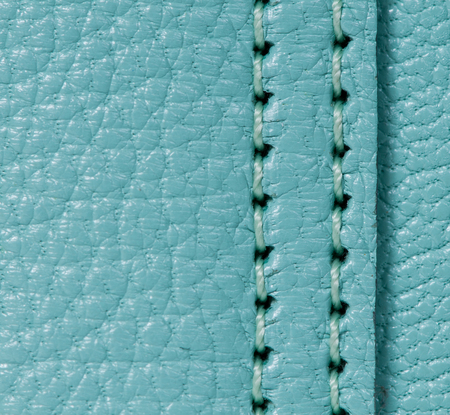 cow hide: Leather texture with stitch Stock Photo