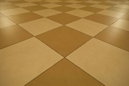 raytraced: tiled floor background Stock Photo