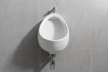 chrome man: modern urinals Stock Photo