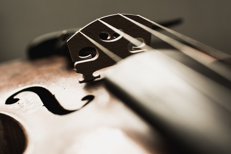 def: Close up shot of a violin,very soft def of field Stock Photo