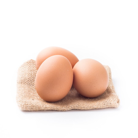 chicken and egg: chicken egg isolated on white