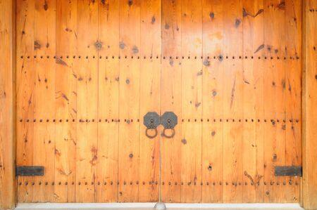 korean style house: close up korea door style Stock Photo