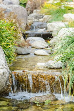 waterfall river: Beautiful waterfall with rock