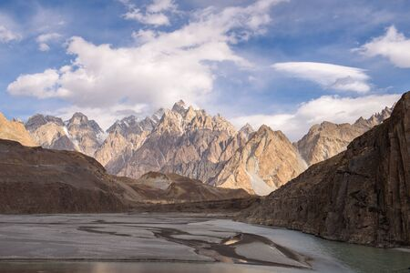 beautiful nature landscape view from Passu Pakistan in autumn