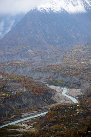 beautiful mountain in nature landscape view from Pakistan,autumn