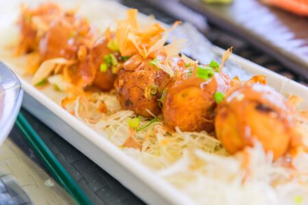 japanese food takoyaki 免版税图像