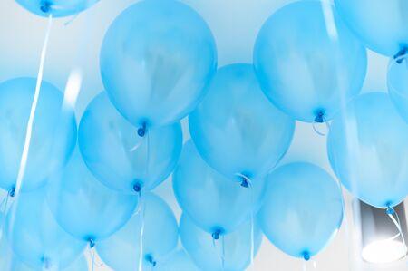 blue balloon , party concept ,background element 免版税图像
