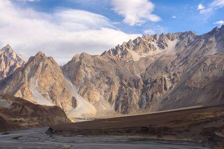 beautiful nature landscape view from Passu Pakistan in autumn