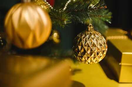 Christmas and new year 2020 decoration on christmas tree ,christmas celebration