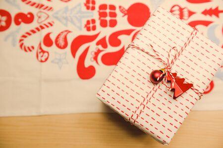 Christmas and new year 2020 gift box,christmas celebration Reklamní fotografie