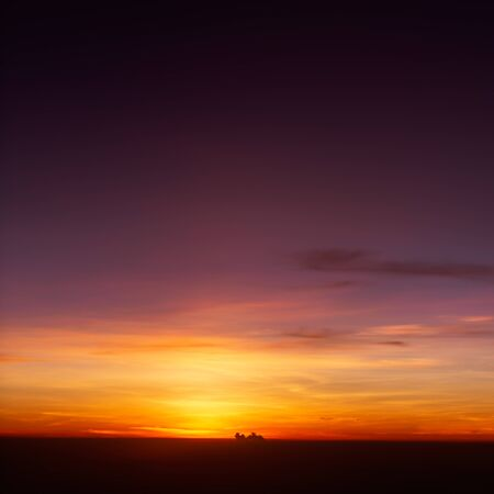 beautiful sunset sky nature background , warm tone sunset
