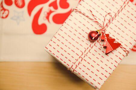 Christmas and new year 2020 gift box,christmas celebration 免版税图像