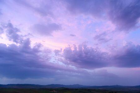 twilight Clouds sunset time,beauty cloud wallpaper backdrop 免版税图像