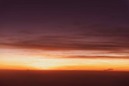 creative tone color sunset sky nature background , warm sunset 免版税图像