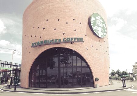 drive through: Starsbuck coffee drive through Stock Photo